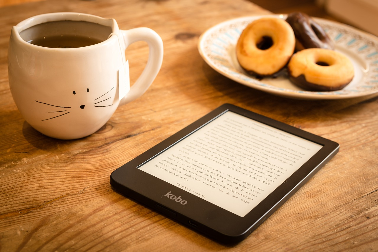 Donuts, tea and a book