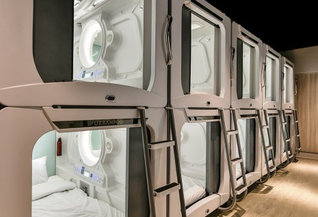 Pod beds hotel