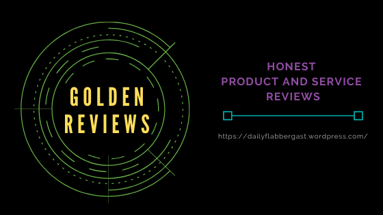 A banner for Golden Reviews